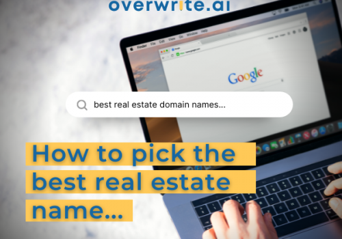 Pick the right real estate domain name -2